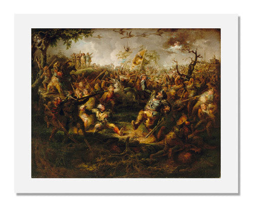 MFA Prints archival replica print of John Quidor, A Battle Scene from Knickerbocker's History of New York from the Museum of Fine Arts, Boston collection.