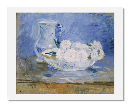 MFA Prints archival replica print of Berthe Morisot, White Flowers in a Bowl from the Museum of Fine Arts, Boston collection.