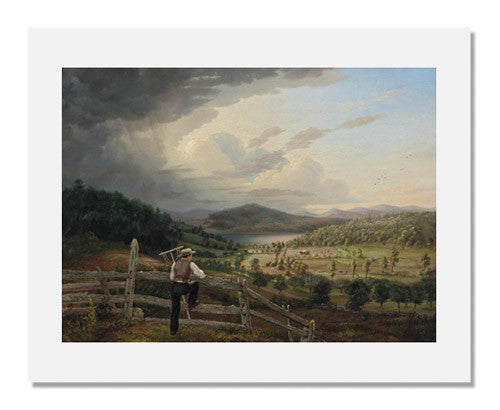 MFA Prints archival replica print of John Bradley Hudson, Jr., Haying at Lapham's Farm, Auburn, Maine from the Museum of Fine Arts, Boston collection.