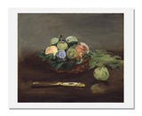 MFA Prints archival replica print of Edouard Manet, Basket of Fruit from the Museum of Fine Arts, Boston collection.