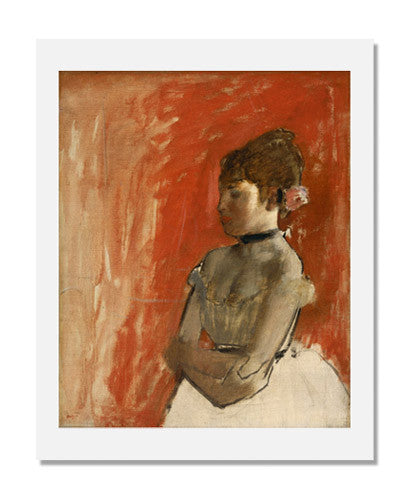 MFA Prints archival replica print of Edgar Degas, Ballet Dancer with Arms Crossed from the Museum of Fine Arts, Boston collection.