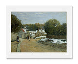 MFA Prints archival replica print of Alfred Sisley, Early Snow at Louveciennes from the Museum of Fine Arts, Boston collection.