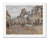 Camille Pissarro, Pontoise, the Road to Gisors in Winter