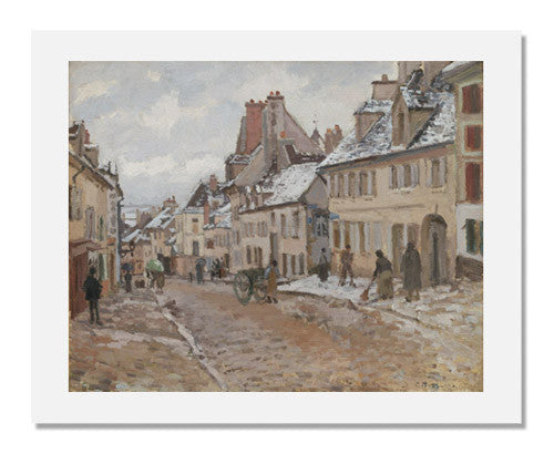 MFA Prints archival replica print of Camille Pissarro, Pontoise, the Road to Gisors in Winter from the Museum of Fine Arts, Boston collection.