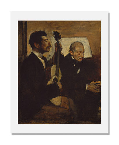 MFA Prints archival replica print of Edgar Degas, Degas's Father Listening to Lorenzo Pagans Playing the Guitar from the Museum of Fine Arts, Boston collection.