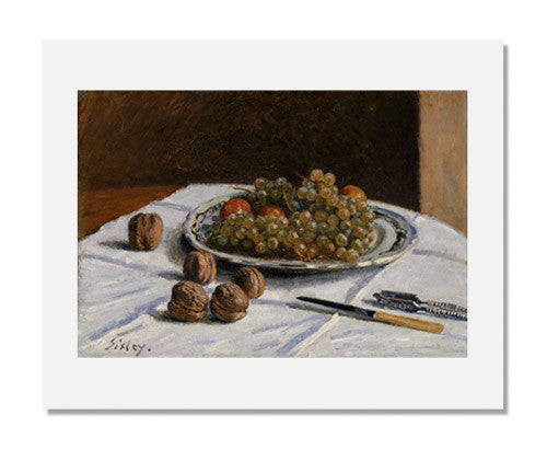 MFA Prints archival replica print of Alfred Sisley, Grapes and Walnuts on a Table from the Museum of Fine Arts, Boston collection.