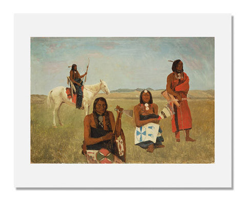 Albert Bierstadt, Indians near Fort Laramie