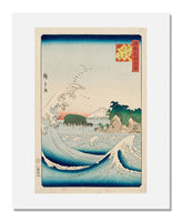 MFA Prints archival replica print of Utagawa Hiroshige II (Shigenobu), Seven-Mile Beach in Sagami Province, from the series One Hundred Famous Views in the Various Provinces from the Museum of Fine Arts, Boston collection.