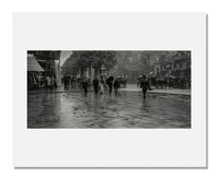 MFA Prints archival replica print of Alfred Stieglitz, A Wet Day on the Boulevard (Paris) from the Museum of Fine Arts, Boston collection.