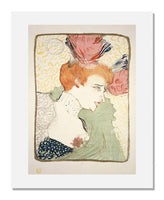 MFA Prints archival replica print of Henri de Toulouse-Lautrec, Mlle. Marcelle Lender, en buste from the Museum of Fine Arts, Boston collection.