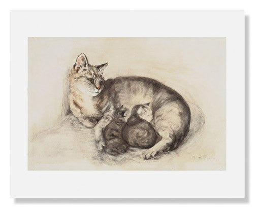 "Ruth Spoor, Cat and Kittens (""Puddy')"