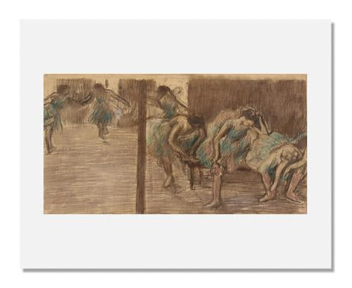 MFA Prints archival replica print of Edgar Degas, Dancers in the Rehearsal Room from the Museum of Fine Arts, Boston collection.