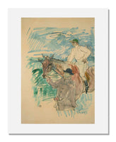 MFA Prints archival replica print of Henri de Toulouse-Lautrec, The Jockey led to the start (Le Jockey se rendant au porteau) from the Museum of Fine Arts, Boston collection.
