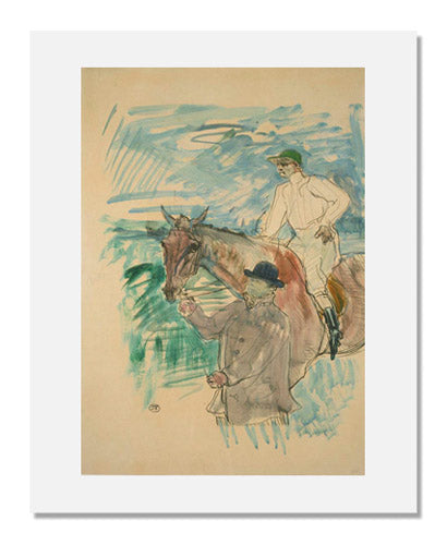 Henri de Toulouse-Lautrec, The Jockey led to the start (Le Jockey se rendant au porteau)