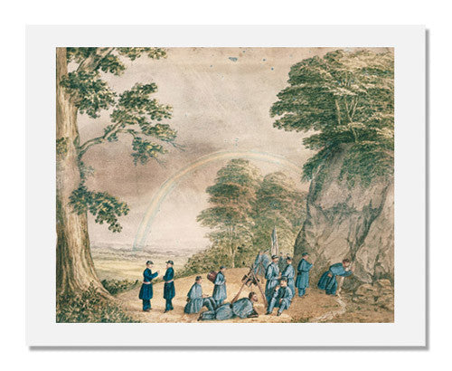 MFA Prints archival replica print of Unidentified artist, Blue Coats in Bivouac on Lookout Mountain, Tennessee from the Museum of Fine Arts, Boston collection.
