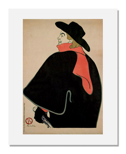 MFA Prints archival replica print of Henri de Toulouse Lautrec, Aristide Bruant in his Cabaret from the Museum of Fine Arts, Boston collection.