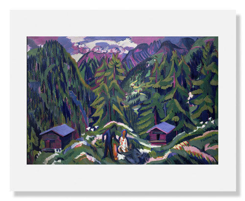 MFA Prints archival replica print of Ernst Ludwig Kirchner, Mountain Landscape from Clavadel from the Museum of Fine Arts, Boston collection.