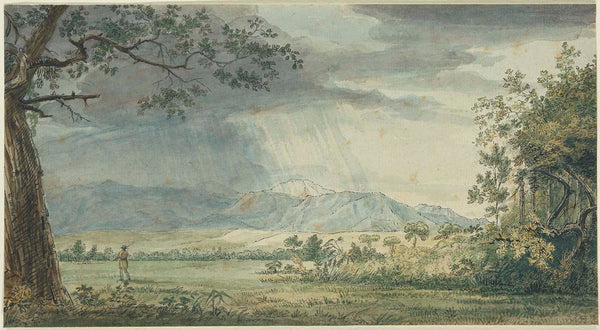 Samuel Seymour, View of James Peak (Pike's Peak) in the Rain