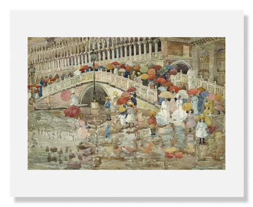 MFA Prints archival replica print of Maurice Brazil Prendergast, Umbrellas in the Rain from the Museum of Fine Arts, Boston collection.