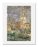 MFA Prints archival replica print of Maurice Brazil Prendergast, Santa Maria Formosa, Venice from the Museum of Fine Arts, Boston collection.