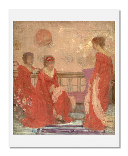 MFA Prints archival replica print of James Abbott McNeill Whistler, Harmony in Flesh Colour and Red from the Museum of Fine Arts, Boston collection.