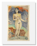 MFA Prints archival replica print of Paul Gauguin, Standing Nude Woman from the Museum of Fine Arts, Boston collection.