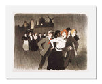 MFA Prints archival replica print of Théophile-Alexandre Steinlen, In the Street (Gigolots and Gigolettes) from the Museum of Fine Arts, Boston collection.