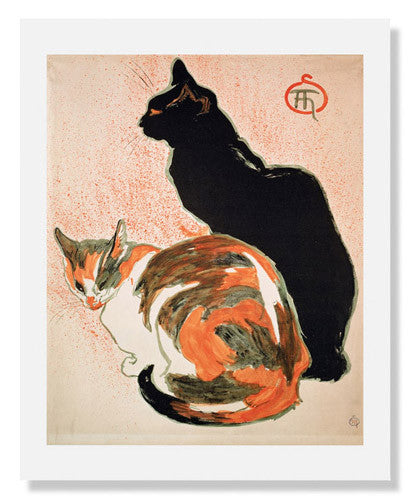 MFA Prints archival replica print of Théophile Alexandre Steinlen, Two Cats from the Museum of Fine Arts, Boston collection.