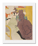 MFA Prints archival replica print of Henri de Toulouse Lautrec, The Englishman at the Moulin Rouge from the Museum of Fine Arts, Boston collection.