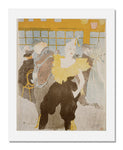 MFA Prints archival replica print of Henri de Toulouse Lautrec, The Clowness at the Moulin Rouge from the Museum of Fine Arts, Boston collection.
