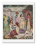 MFA Prints archival replica print of Maurice Brazil Prendergast, Eight Bathers from the Museum of Fine Arts, Boston collection.