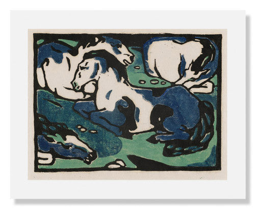 MFA Prints archival replica print of Franz Marc, Horses Resting from the Museum of Fine Arts, Boston collection.