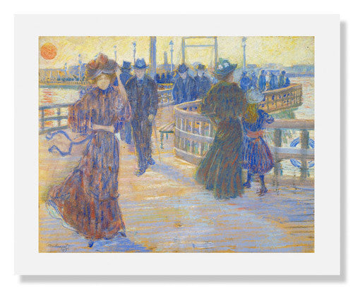 MFA Prints archival replica print of Maurice Brazil Prendergast, South Boston PierPrendergast, South Boston Pier from the Museum of Fine Arts, Boston collection.