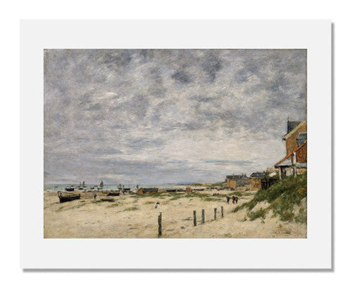 MFA Prints archival replica print of Eugène Louis Boudin, The Inlet at Berck (Pas de Calais) from the Museum of Fine Arts, Boston collection.