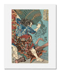 Utagawa Kuniyoshi, Du Xing, the Devil faced (Kirenji Toko)