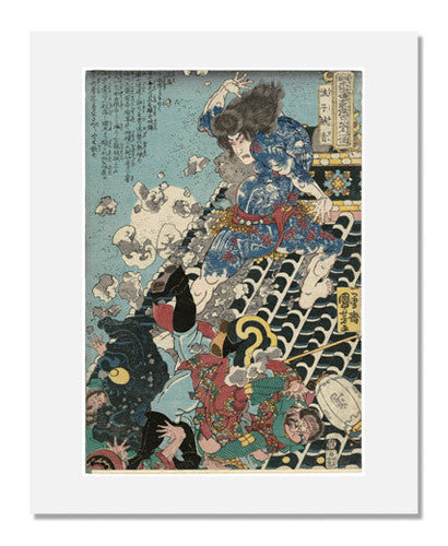 MFA Prints archival replica print of Utagawa Kuniyoshi, Yan Qing, the Graceful (Roshi Ensei) from the Museum of Fine Arts, Boston collection.