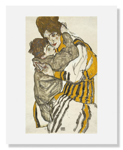 MFA Prints archival replica print of Egon Schiele, Schiele's Wife with Her Little Nephew from the Museum of Fine Arts, Boston collection.