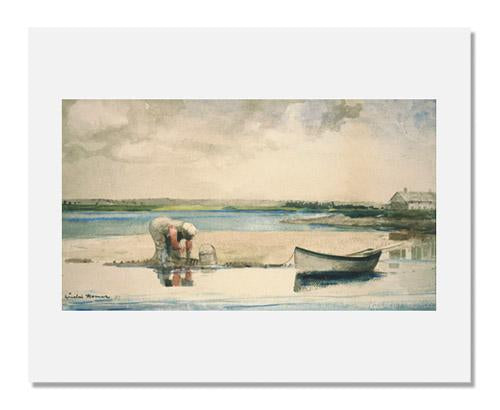 MFA Prints archival replica print of Winslow Homer, Clamming from the Museum of Fine Arts, Boston collection.
