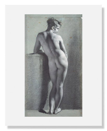 MFA Prints archival replica print of Pierre Paul Prud'hon, Standing Female Nude from the Museum of Fine Arts, Boston collection.