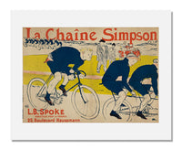 "MFA Prints archival replica print of Henri de Toulouse-Lautrec, Poster for ""La Châine Simpson"" Bicycle Chains from the Museum of Fine Arts, Boston collection."