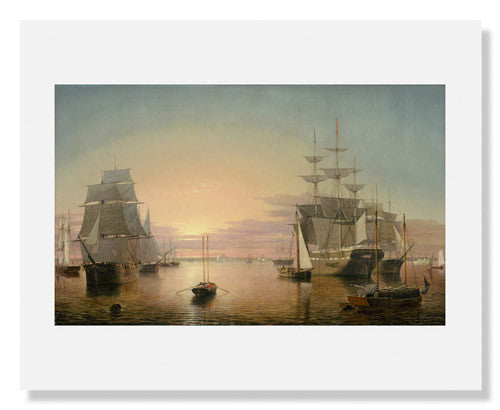 MFA Prints archival replica print of Fitz Henry Lane, Boston Harbor from the Museum of Fine Arts, Boston collection.