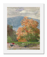 Winslow Homer, Autumn Foliage with Two Youths Fishing</