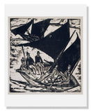 MFA Prints archival replica print of Ernst Ludwig Kirchner, Sailboats at Fehmarn from the Museum of Fine Arts, Boston collection.