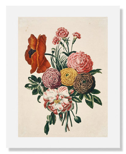Bunch of Flowers with Poppy and Carnation
