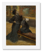 MFA Prints archival replica print of Edgar Degas, Visit to a Museum from the Museum of Fine Arts, Boston collection.