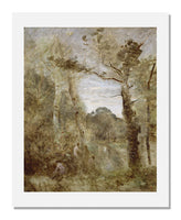 MFA Prints archival replica print of Jean Baptiste Camille Corot, Bathers in a Clearing from the Museum of Fine Arts, Boston collection.