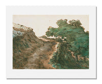MFA Prints archival replica print of Jean François Millet, Road from Malavaux, near Cusset from the Museum of Fine Arts, Boston collection.