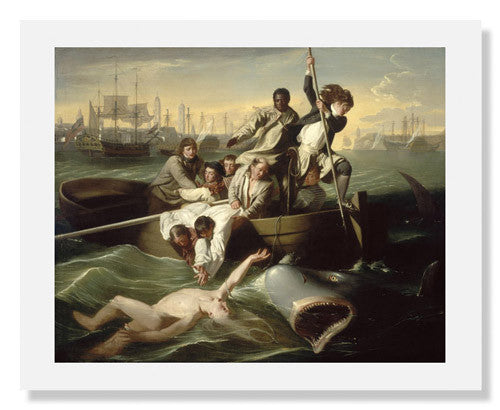 MFA Prints archival replica print of John Singleton Copley, Watson and the Shark from the Museum of Fine Arts, Boston collection.