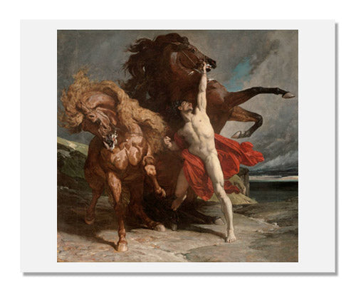 MFA Prints archival replica print of Henri Regnault, Automedon with the Horses of Achilles from the Museum of Fine Arts, Boston collection.