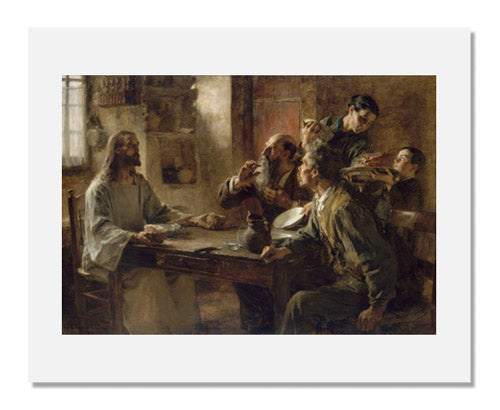 MFA Prints archival replica print of Léon-Augustin Lhermitte, Friend of the Humble (Supper at Emmaus) from the Museum of Fine Arts, Boston collection.